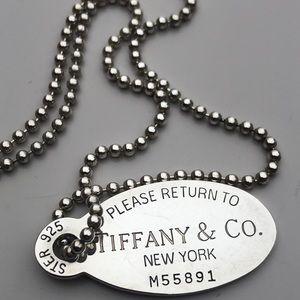 Tiffany and Co. dog tag pendant
